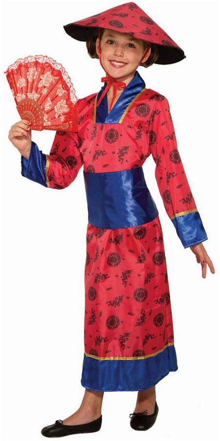Geisha Girl,Large,Japenese,Girls Oriental Fancy Dress Costume,Kids Book Week #US