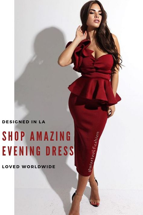 9cac90b14ed7 Darla Burgundy Ruffle Dress featured by Misstook. The best evening dresses  designed in Los Angeles   Misstook.com