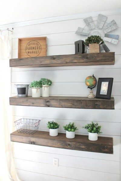 Floating Shelves Diy How To Make Your Own Floating Shelves Floating Shelves Living Room Rustic Floating Shelves Floating Shelves Diy