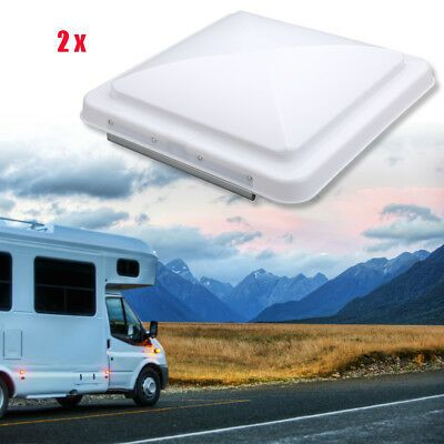 Advertisement 2pcs 14 X14 Universal Rv Roof Vent Cover Vent Lid Camper Trailer Motorhome Sdfe
