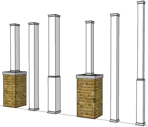 Post Coversmade To Fit 4x4 And 6x6 Wooden Porch Posts In Pvcpvc Column Covers Or Wraps Are Quick An Porch Post Wraps Porch Supports Vinyl Railing Front Porches