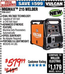 MIGMax™ 215 Welder with 120/240 Volt Input | herramienta