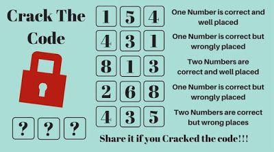 Critical Thinking Puzzles-Crack the Code | Puzzle | Escape