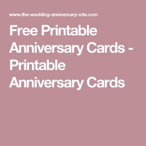 Free Printable Anniversary Cards - Printable Anniversary Cards - free printable anniversary cards