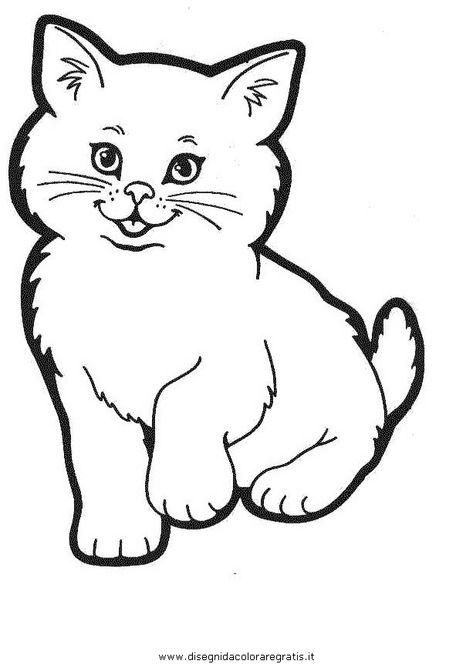 Animali Gatti Gatto 001 Jpg Disegni Da Colorare Pagine Di Libro