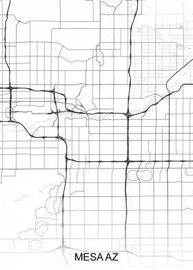Map Of Northern Arizona Cities.Mesa Az Arizona Street Map North America Street Maps Road Map