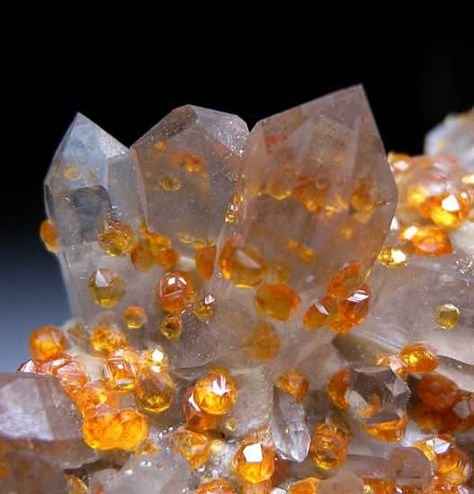 Spessartine with Quartz from Tongbei, Fujian Province, China