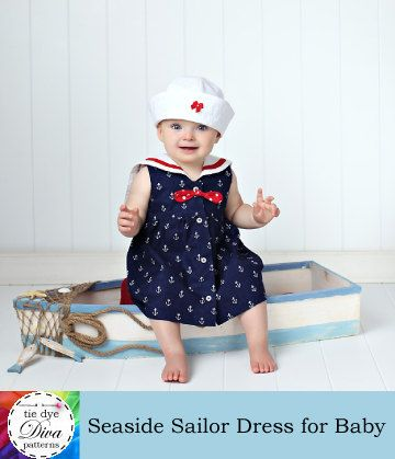 Baby Sailor Dress Sewing Pattern - Instant Download PDF - Sailor ...