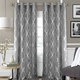 Brockham Solid Blackout Thermal Grommet Curtain Panels With