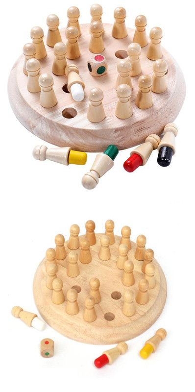 Wooden Memory Match Stick Chess Game Fun Block Board Game Educational for Kids