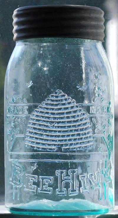 Bee Hive canning jar