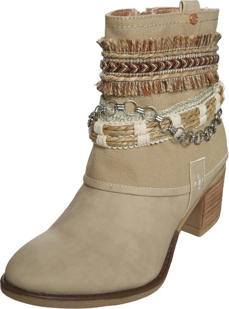 BULLBOXER Ankle Boots im Cowboy Look in beige | ABOUT YOU