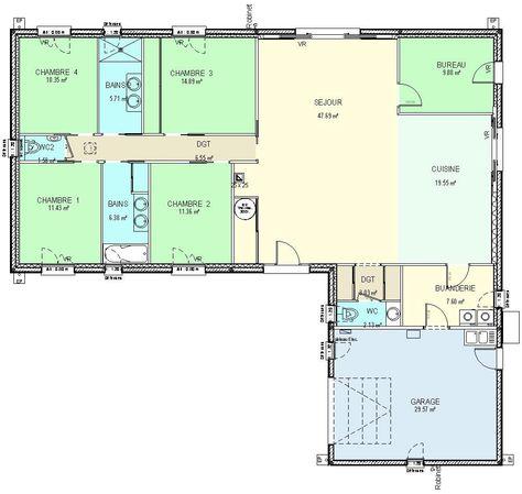Moderne Les 100+ meilleures images de Plan maison en 2020 | plan maison HC-22