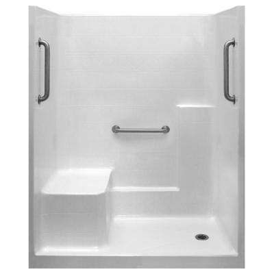 Classic 33 In X 60 In X 77 In 1 Piece Low Threshold Shower