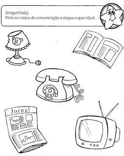 Espaco Educar Com Imagens Atividades Meios De Comunicacao
