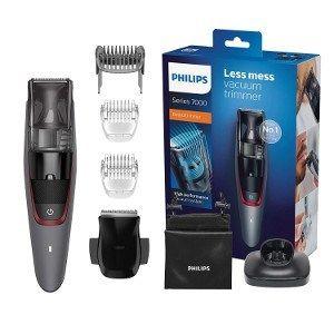 Philips Bt7512 15 Barbero Recortador Con Sistema De Aspiracion Cuchillas Metalicas Autoafilables Y 5 Accesorios Con Fund Fundas Accesorios Estilos De Barba