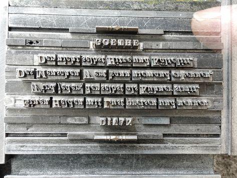 Letterpress Bleisatz Buchdruck Typography Vintage Type
