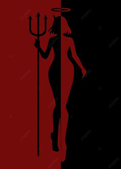 Red Angel Devil Background