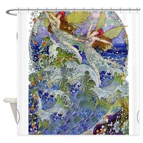 Djer Kiss Art Deco Sea Fairies Shower