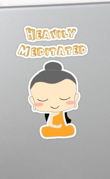 Heavily Meditated Cartoon Style Design | Sticker