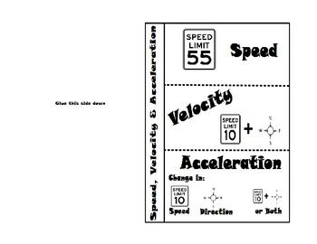 Speed, Velocity and Acceleration | Graphic organizers, Students ...
