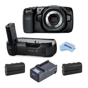 Bmpcc Pocket Cinema Camera 4k Bundle With Blackmagic Battery Grip 2 Pack Green Extreme Np F550 Batteries Compact Cha Cinema Camera Blackmagic Design Cinema
