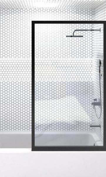 Gridscape Gs3 Industrial Style Fixed Glass Shower Screen Panels Feature Clear Tempered Glass And Are Glazed Bath Shower Screens Glass Shower Glass Shower Wall