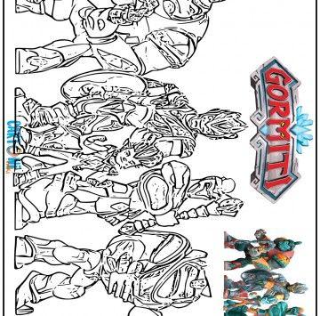 Disegno Gormiti Del Ghiaccio Da Stampare Cartoni Animati