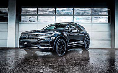 Download Wallpapers 2019 Volkswagen Touareg Abt Suv New Black