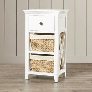 Nalley 16 Hued Fabric Lined Bathroom Standing Cabinet