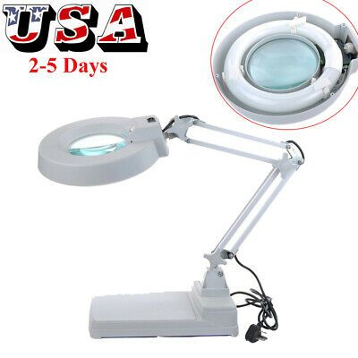 Ebay Advertisement 10x Loupes Magnifying Magnifier Glass Lamp Light Standing Table Desktop Desk Usa In 2020 Glass Desk Lamps Clamp Lamp Magnifier Lamp