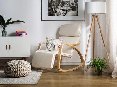 Chaise à bascule ivoire design contemporain Weston