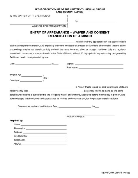 Waiver Form For Sports Coloring Pages - sample waiver form - free affidavit form download