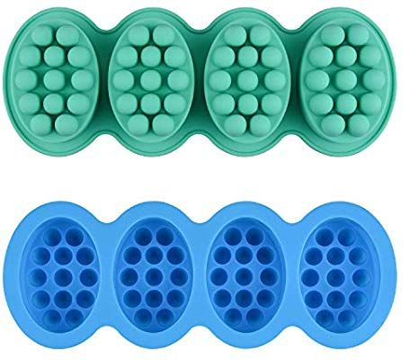2 Pcs Silicone Massage Bar Soap Molds Sj Silicone Molds For Soaps Making Handmade Soap Molds Nonstick Bar Soap Molds Soap Making Molds Soap Molds Silicone