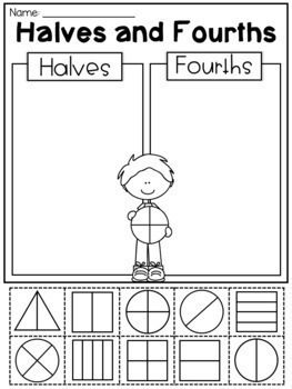 First Grade Fractions and Partitioning Worksheets | First ...