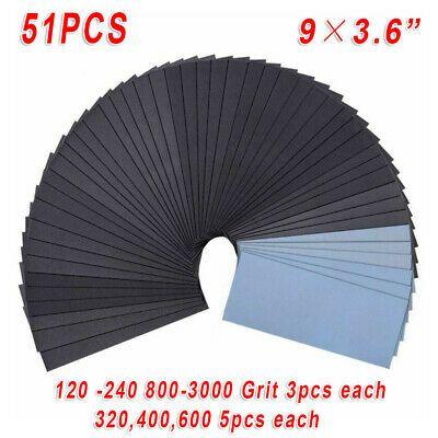 Polished Tools Abrasive Sanding Paper Sheet  Wet Dry Sandpaper  120-2000 Grit