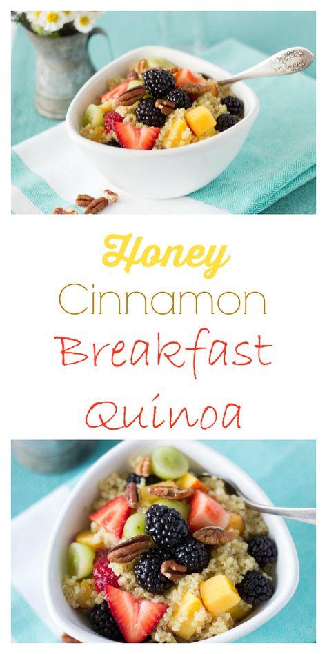 Honey Cinnamon Breakfast Quinoa| from Simple Healthy Kitchen