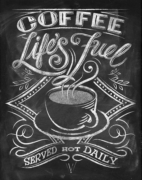 Картинки кофе с собой на доске