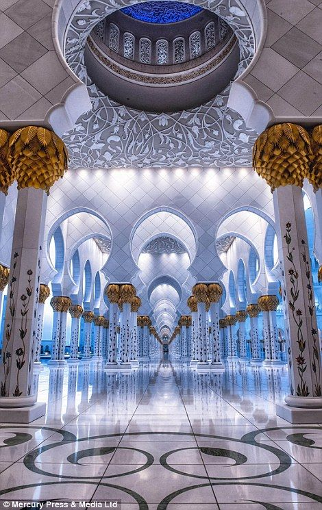 The Mosque - Sheikh Zayed, Abu Dhabi, Dubai ~ by Julian John Abu Dhabi, Mosque Architecture, Art And Architecture, Ancient Architecture, Beautiful Architecture, Beautiful Buildings, Beautiful Mosques, Beautiful Places, Kirchen Design