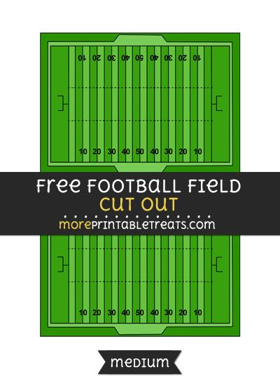 image about Printable Football Field called Absolutely free Soccer Marketplace Reduce Out - Medium Sizing Printable