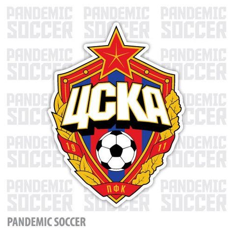 PFC CSKA Moscow (Moscú/Moskau/Moscou/Mosca/Moskva) Professional Football Club Central Sports Club of Army Moscow (Профессиональный футбольный клуб ЦСКА Москва) Country: Russia / Россия. Founded/Fundado: Badge/Crest/Logo/Esc