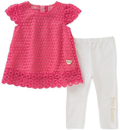 Juicy Couture Baby Girls 2 Pieces Tunic Sets Pink White 3 6 Months Juicy Couture Baby Girls Couture Baby Couture