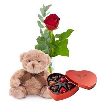 skicka blommor eller choklad
