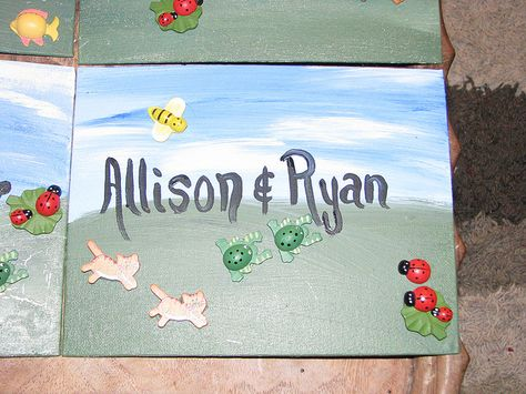 Bought small canvases and painted them with the invitees names on them. Glued some lttle wooden dollar-store animals to the front, put the party details on the back (including directions for kids to bring old shirts to paint and sculpt in) and I was  Who doesn't want  the perfect party invitation for their child's party?