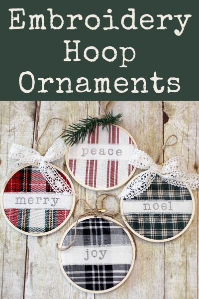 These embroidery hoop ornaments are my favorite DIY ornaments! Check out the easy DIY tutorial to make your own in no time! Christmas Ornament Crafts, Diy Christmas Gifts, Christmas Projects, Handmade Christmas, Holiday Crafts, Christmas Holidays, Diy Ornaments, Christmas Decorations, Christmas Ideas