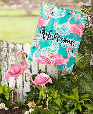 Values Of Spring 2019 Lakeside Flamingo Garden Flamingo Decor Garden Decor