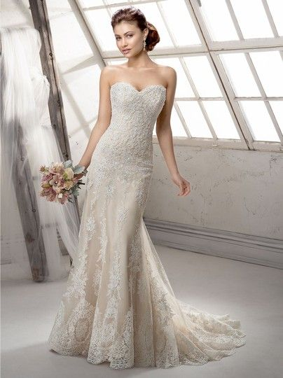 Ivory Over Lt Gold Lace Viera By Midgley Vintage Wedding