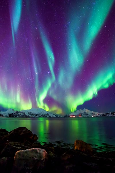 Northern Lights Aurora Borealis And
