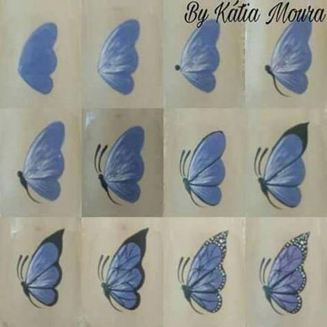 Nagelkunst Schritt für Schritt Schmetterling 54  #für #NagelKunst #Schmetterling #Schritt Acrylnägel