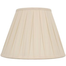 Allen + Roth 11 In X 15 In Cream Fabric Bell Lamp Shade S